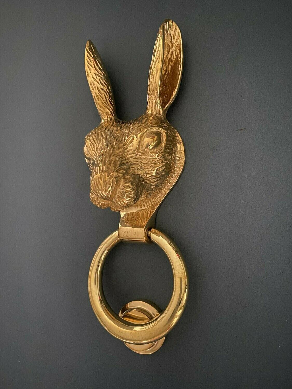 Brass Hare door knocker in Brass Finish