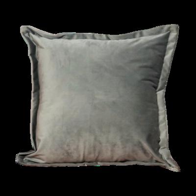 Grey Velvet cushion cover - 45cm