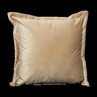 Beige Velvet cushion cover - 45cm