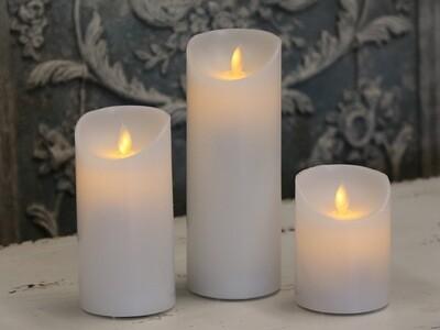 White LED Church Candle - 15cm