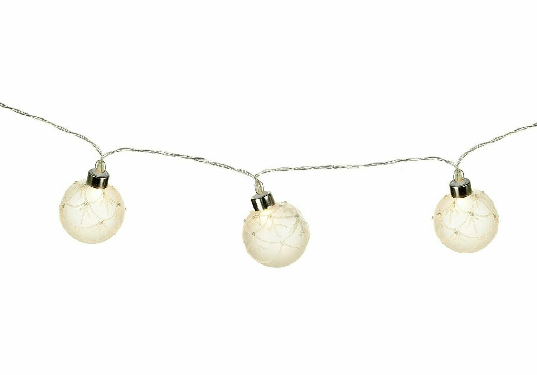 LED Light up Bauble Garland - 2m