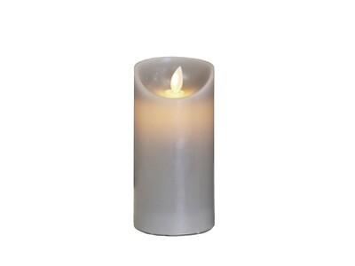 Tall LED Church Candle - Taupe