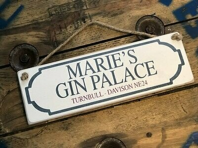 Personalised Sign