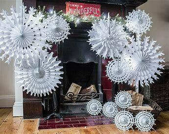 Classic Paper Snowflake - Medium - 40cm