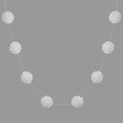 Brilliant White Paper Star Garland - 200cm