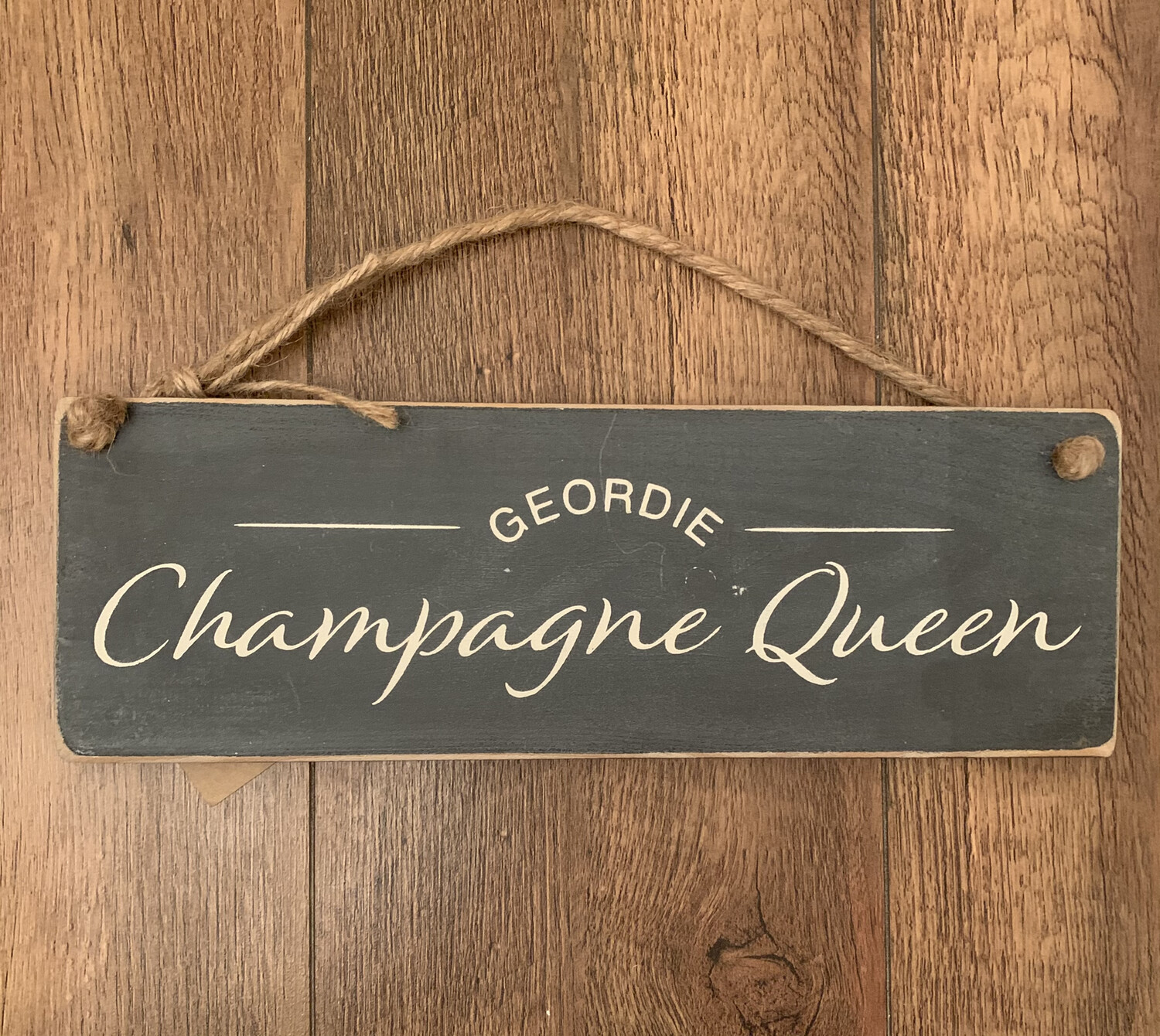 Geordie champagne queen