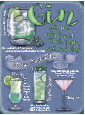Gin Cocktail Menu