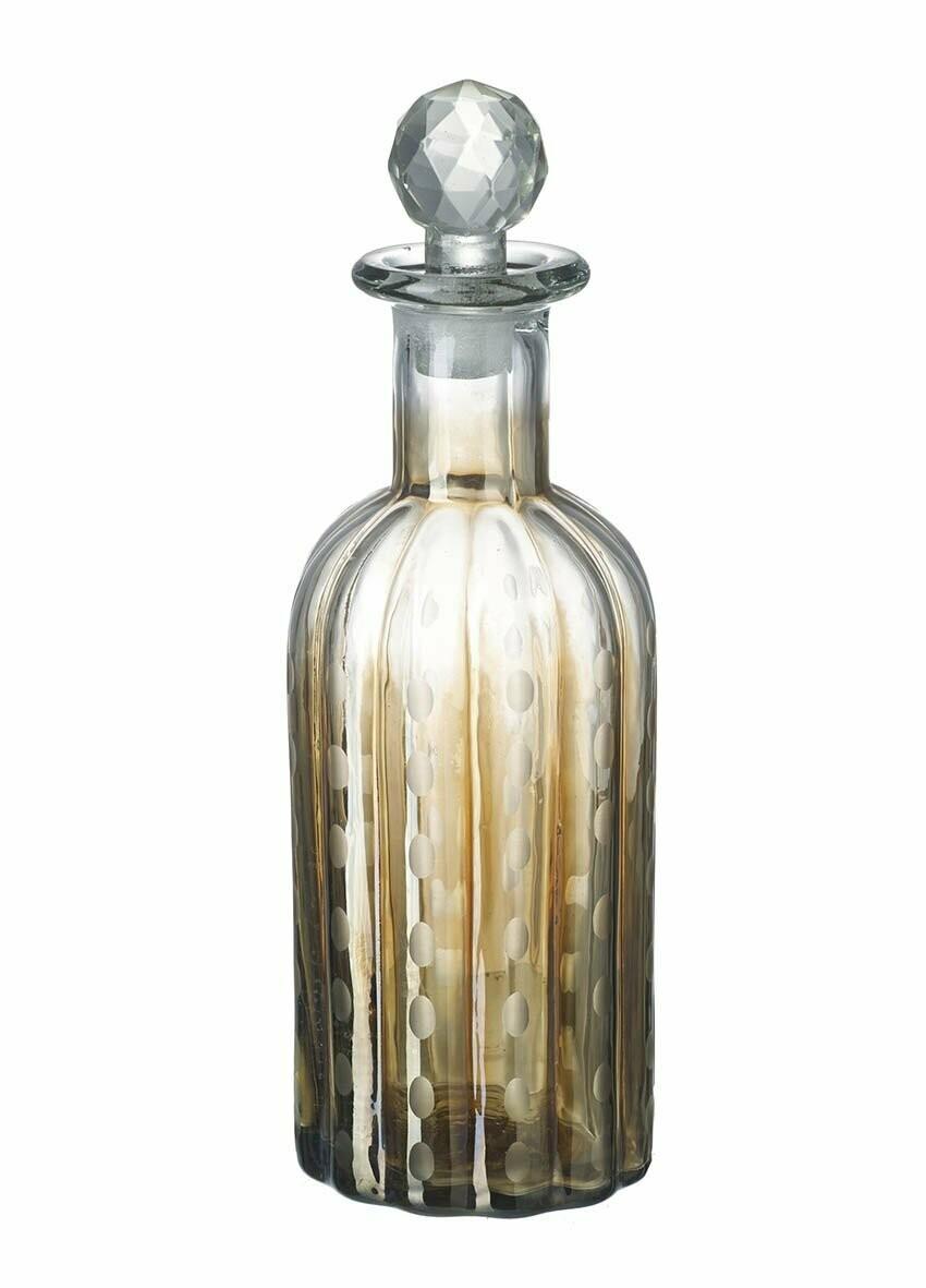 Glass Bottle Clear/Gold Glass - Tall