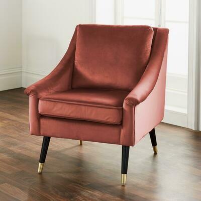 Rose Velvet Armchair