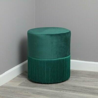 Emerald Green Velvet Stool/Pouffe