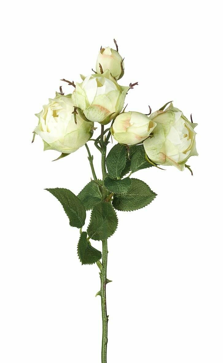 White Faux Rose Spray
