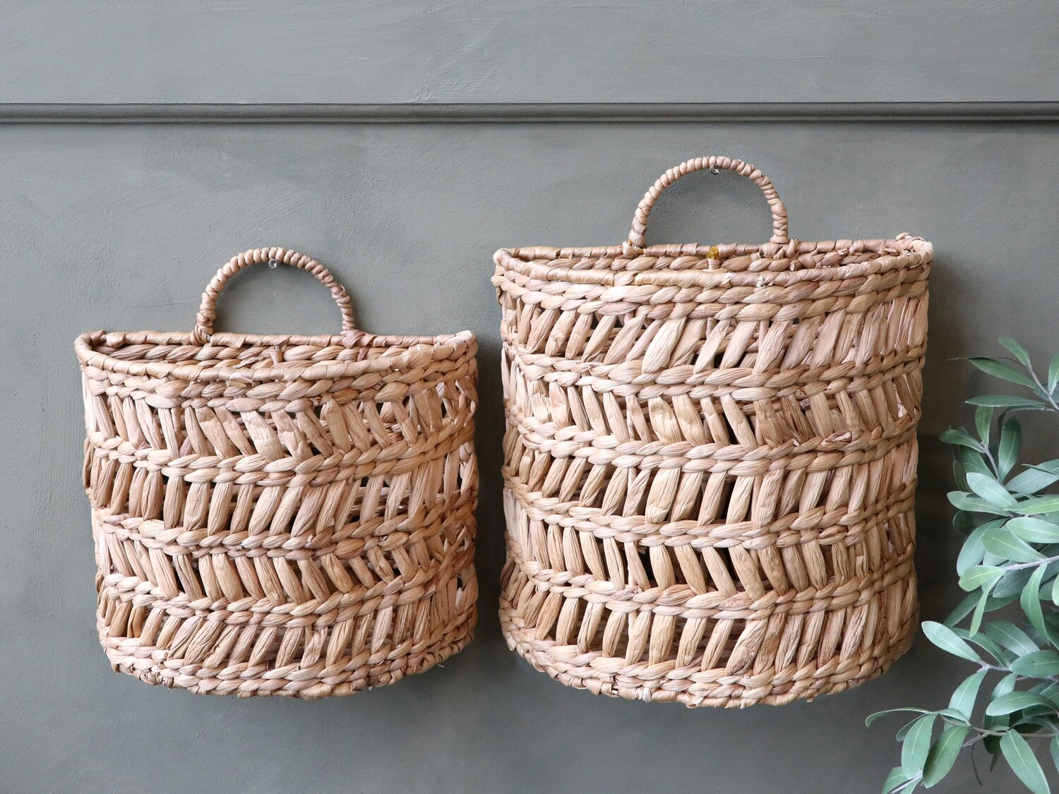 Wicker Basket for Hanging - Small