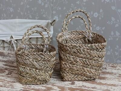 Wicker Basket with Handles - Medium