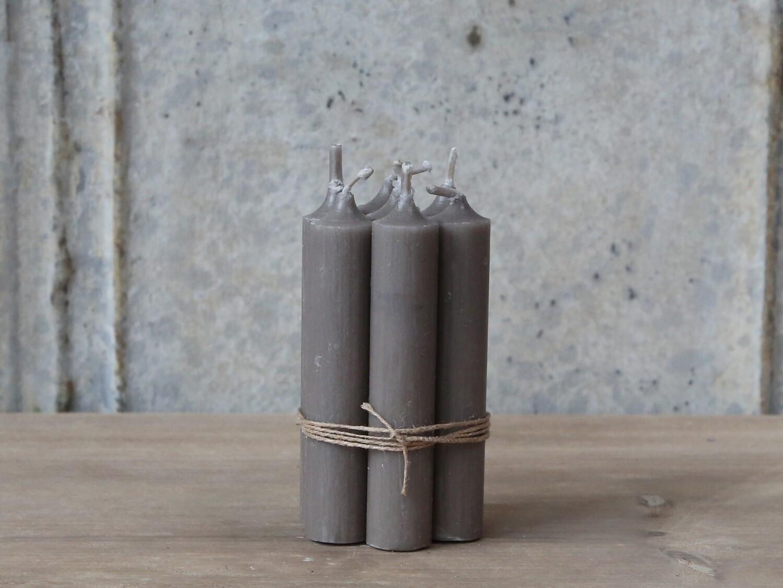 Short Dinner Candle - Linen x 4