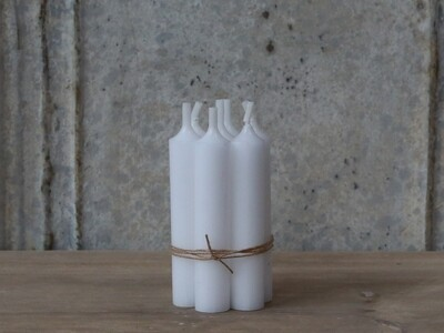 Short Dinner Candle - White x 4