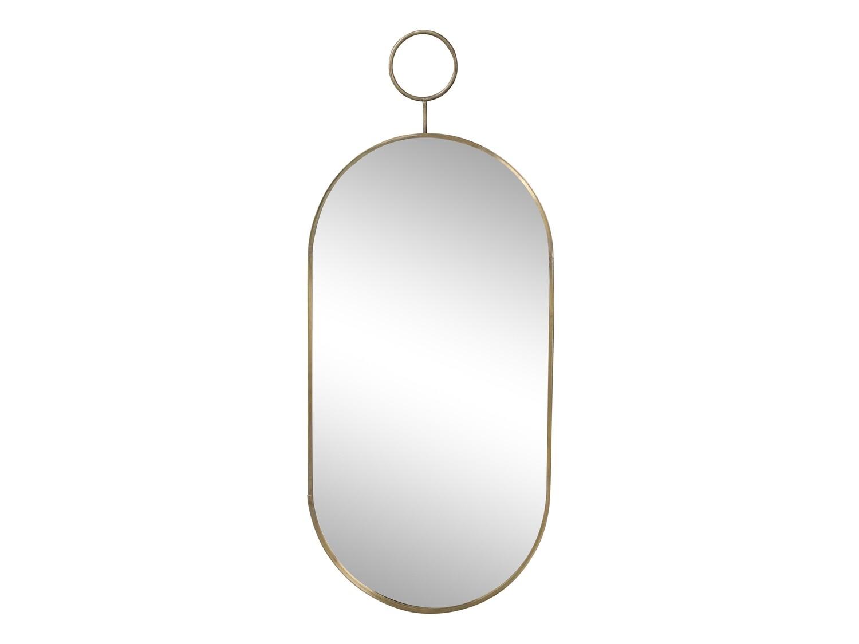 Brass Oval Mirror - Medium