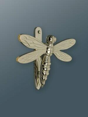 Dragonfly door knocker in Nickel Finish