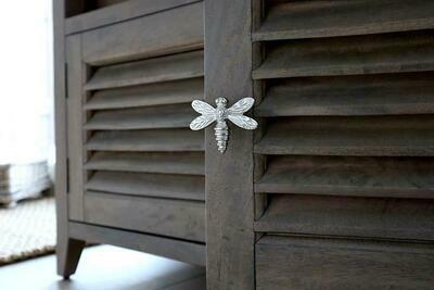 Dragonfly Drawer Knob Nickel Finish