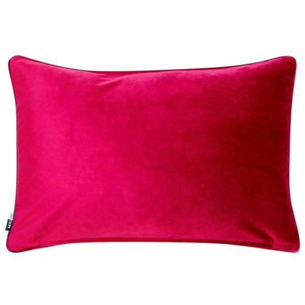 Fuschia Velvet Rectangular Cushion