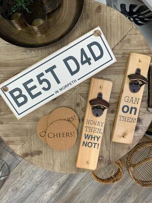 Best Dad Wooden Sign