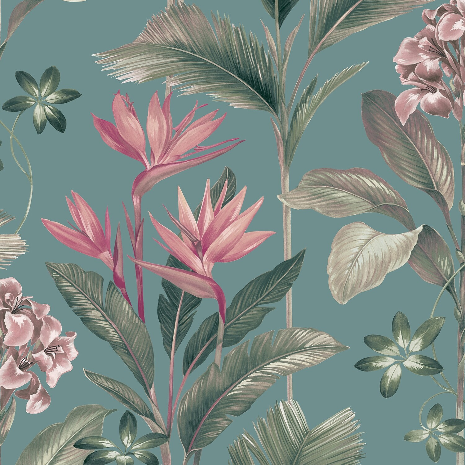 Oliana Floral Teal Wallpaper