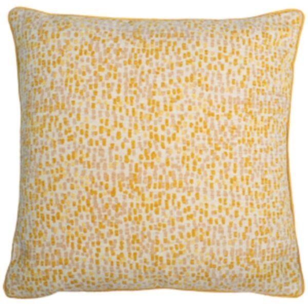 Large Ochre, Mustard Patterned Cushion