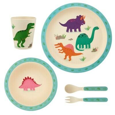 Roarsome Dinosaur Bamboo Tableware