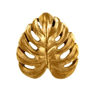 Gold Cheese Plant Drawer Handle