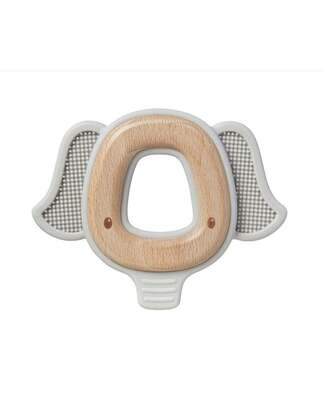 Natural Wood & Silicone Teether
