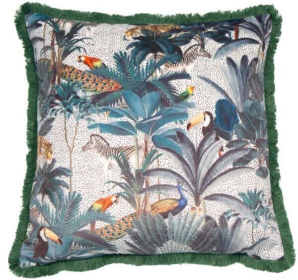 Luxury Safari Cushion with frill trim