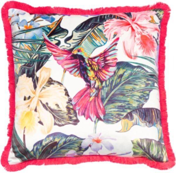 Hummingbird Cushion - Pink