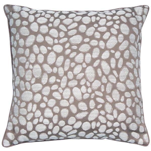 Taupe Pebbles Cushion