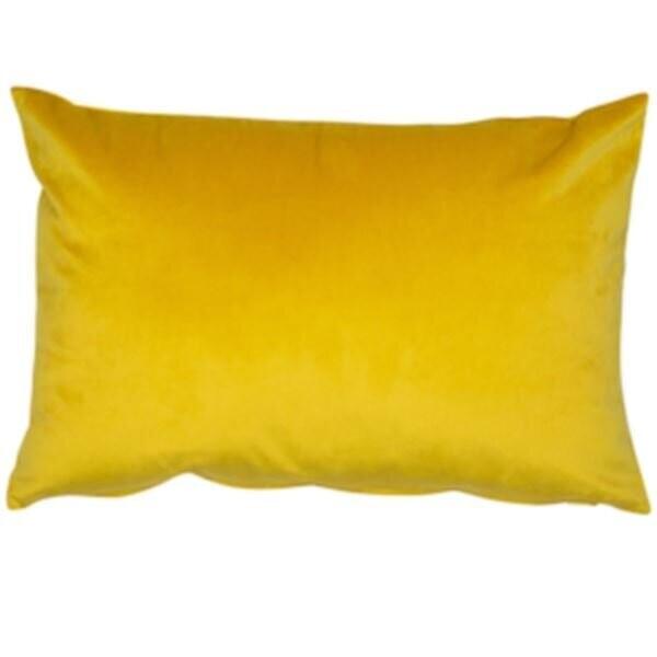 Mustard Velvet Rectangular Cushion