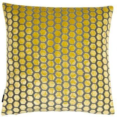 Honeycomb Mustard Cushion