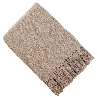 Taupe Throw
