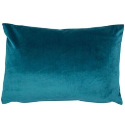 Teal Velvet Rectangular Cushion