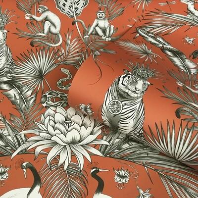 Menagerie Wallpaper - Burnt Orange
