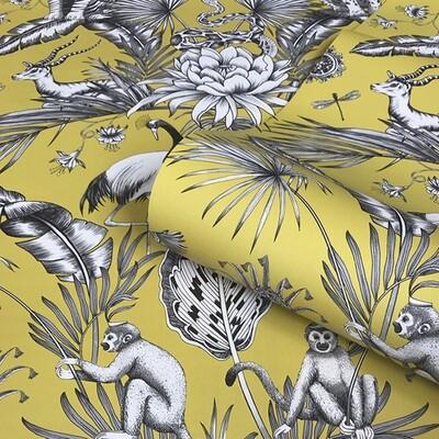 Menagerie Wallpaper - Mustard/Ochre