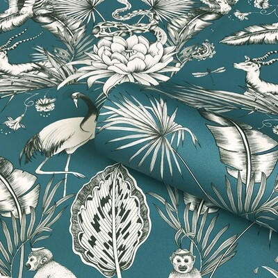 Menagerie Wallpaper - Teal