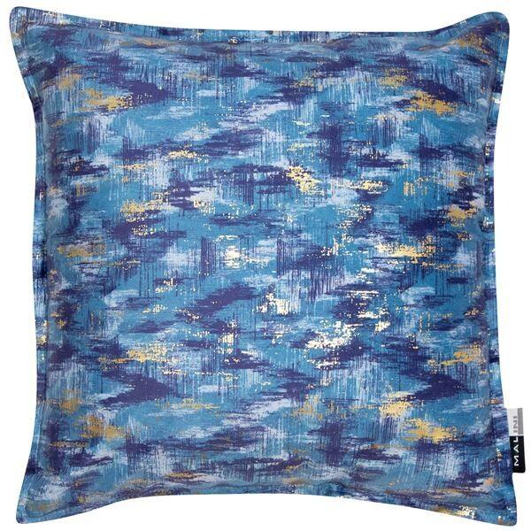 Blue and gold splash Cushion