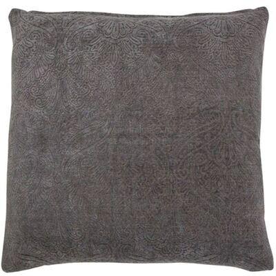 Slate Grey Damask Cushion
