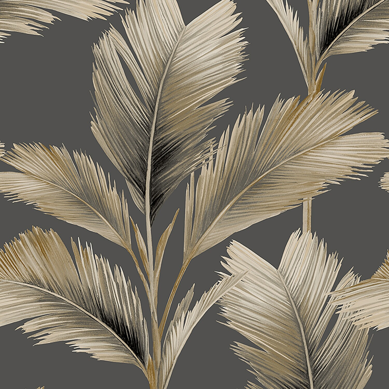 Kailani Wallpaper - Gold Palm Leaf
