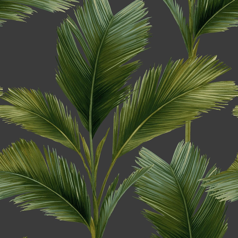 Kailani Wallpaper - Green Palm Leaf