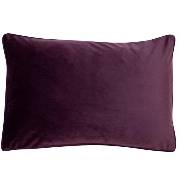 Aubergine Velvet Rectangular Cushion