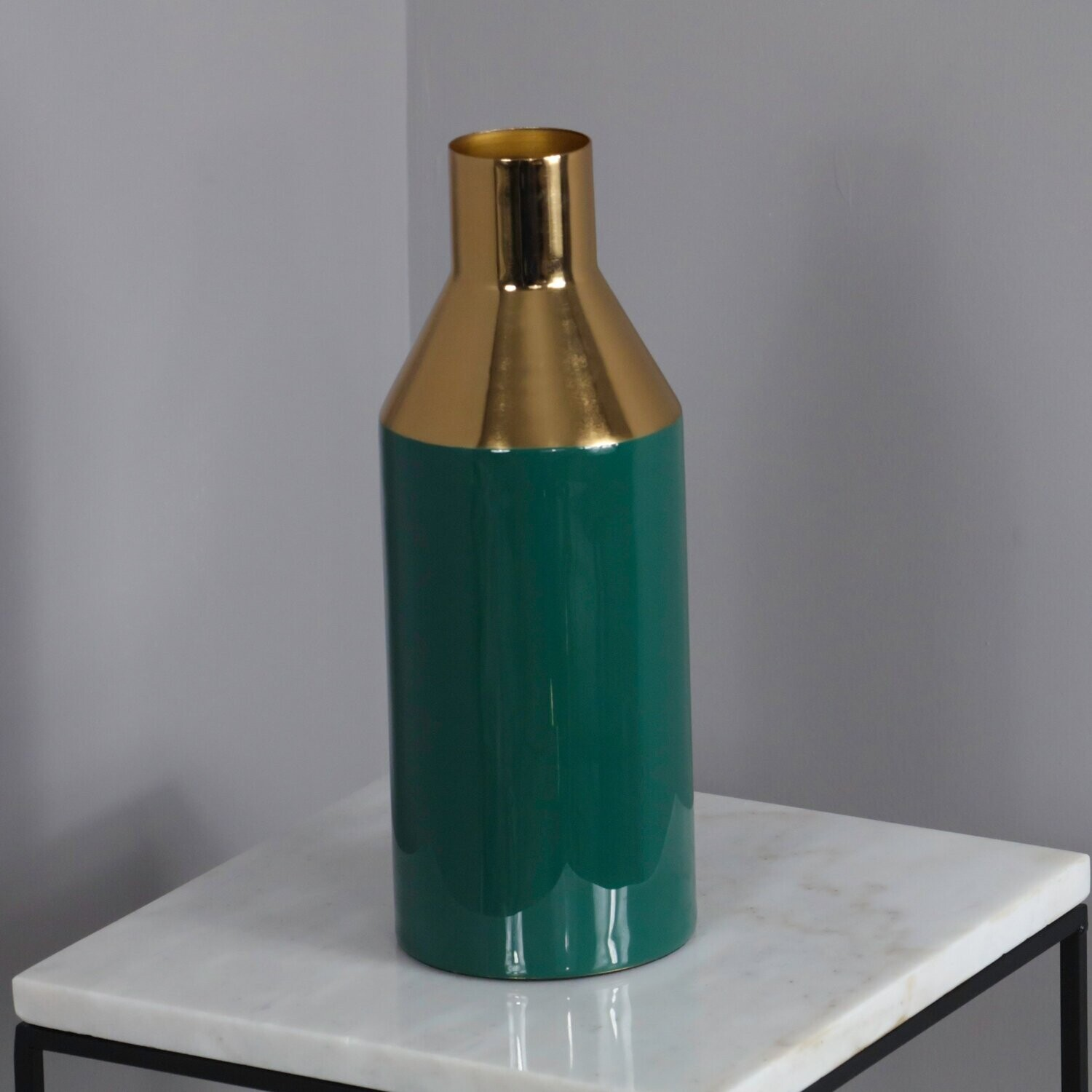 Gold and Green Tall vase