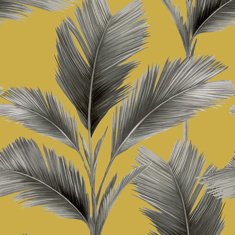 Kailani Wallpaper - Mustard Palm Leaf