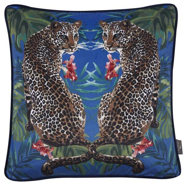 Luxurious Velvet Leopard Cushion