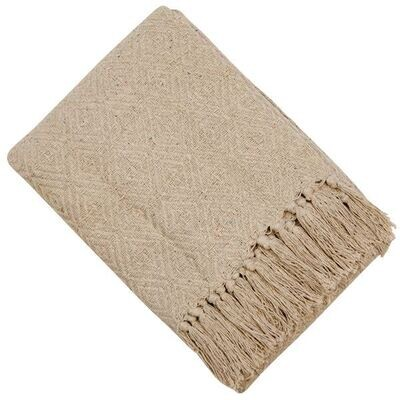 Natural Taupe Throw