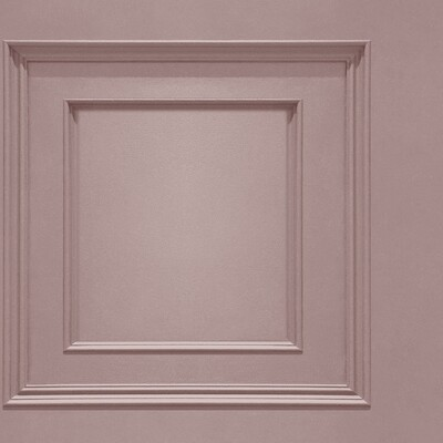 Oliana Panelling Pink Wallpaper