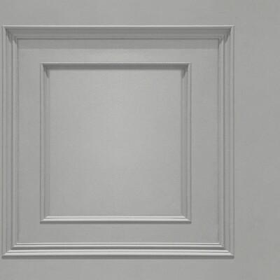 Oliana Panelling Grey Wallpaper